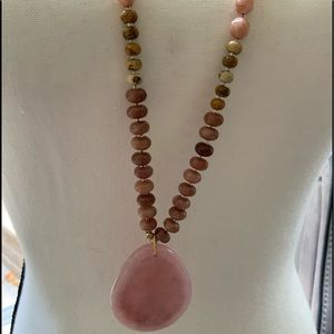 Pure Jill Blush Stone Necklace